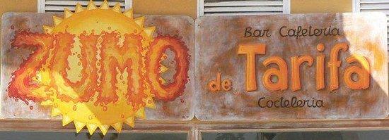 Bar Cocteleria Zumo de Tarifa: Cartel