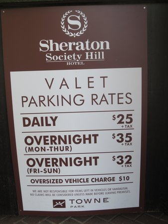 Sheraton Philadelphia Society Hill Hotel: Self Explanatory