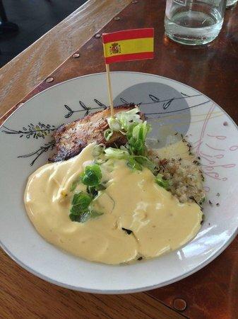 Tapashusid/Tapashouse : Slow cooked Salted Cod...barley, bacon, egg foam