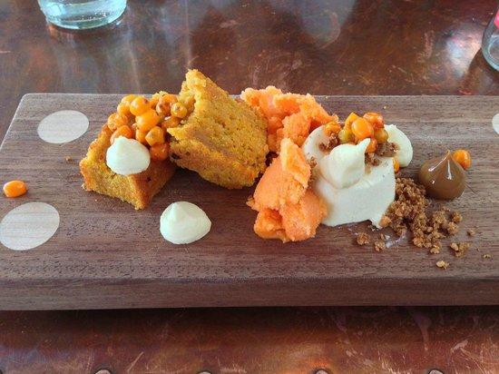 Tapashusid/Tapashouse : Icelandic Skyr Mousse...buckthorn berry, carrot, lemon