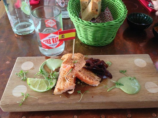 Tapashusid/Tapashouse : Slow Cooked Arctic Charr...dill, rye bread, elderflower vinegar