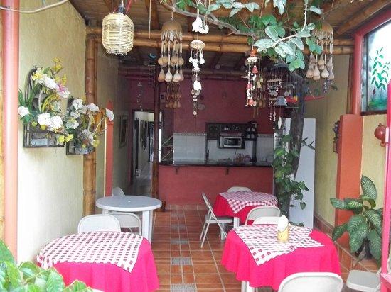 Hotel Pacande: este es el comedor fabuloso lugar donde se comparte el desayuno con los huéspedes