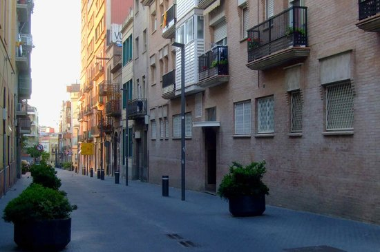 Live & Dream: Carrer de Rossend Arus, the street where the hotel is situated.