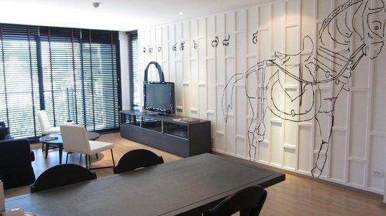 Tenface Bangkok: 四人房的客廳設計