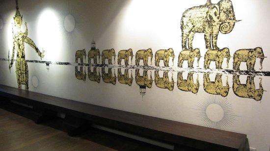 Tenface Bangkok: 很可愛的大象圖案~在LOBBY