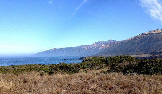 Plaskett Creek Campground : A view from the bluffs right across the street from the campground
