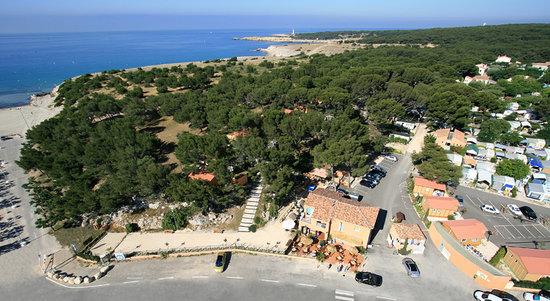 Martigues, France : Le camping vu du ciel