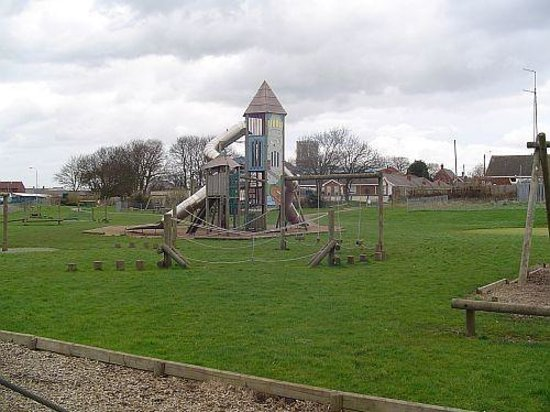 Withernsea, UK: part of the play park