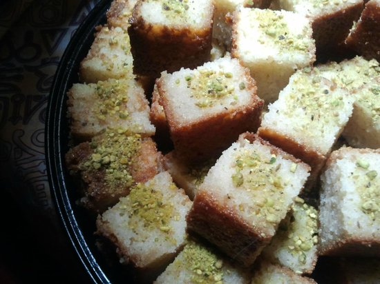 Al-Masri Egyptian Restaurant: Sweet Basboosa Honey Dessert Cakes