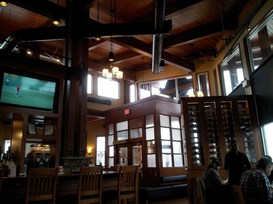 White spot: Pic 3 (right) of the interior of the 'lounge area' of one side of the restaurant/looking to entr