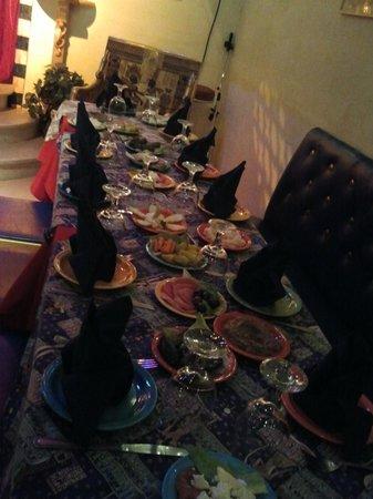 Al-Masri Egyptian Restaurant: Inviting Maza on a Party Table