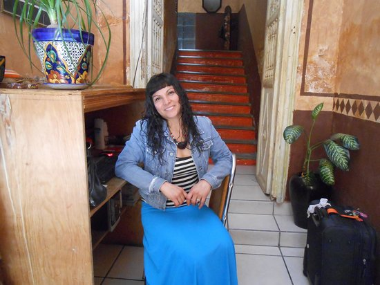 Hostel Guanajuato: the lady Angelica