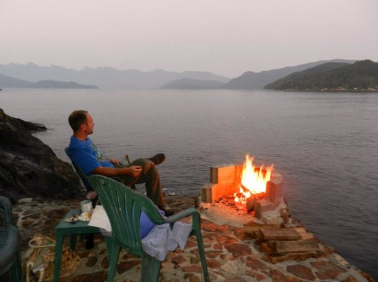 Soames Point Oceanfront Suite: Campfire on the water