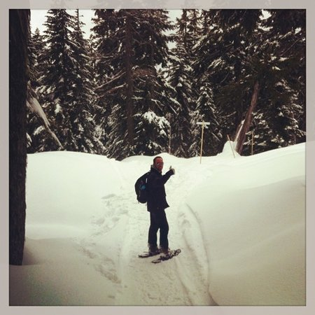 Soames Point Bed & Breakfast: Snowshoeing