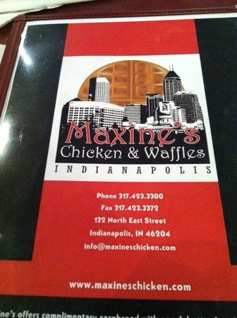 Maxine's Chicken & Waffles: Menu cover