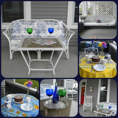 The Flying Frog Bed and Breakfast: Front porch collge - breakfast can be served on porch
