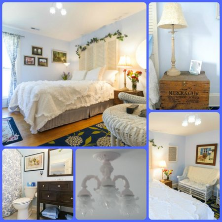 The Flying Frog Bed and Breakfast: Provence Room collage - all rooms have their own private bath