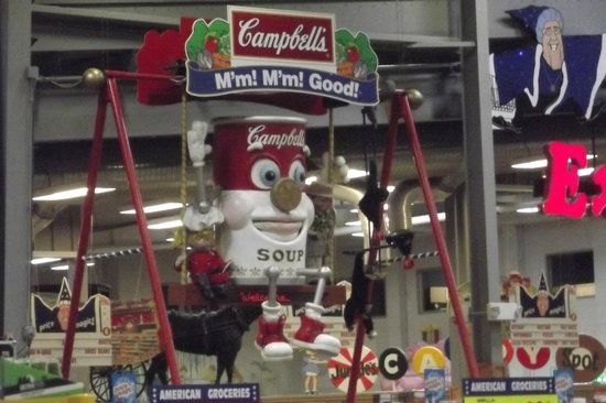 Jungle Jim's International Market: where else would you see a soup can on a swing