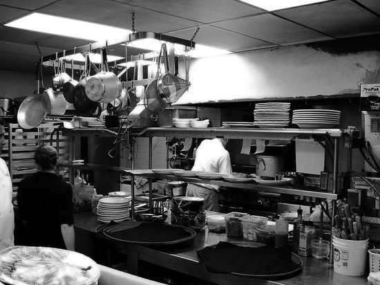 Michele's Restaurant and Catering: Kitchen.