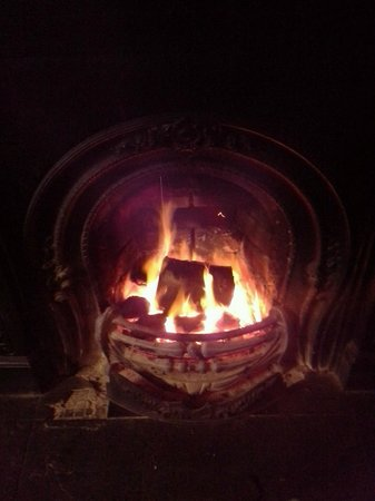 Slieve Bloom Bar: This warm fire will greet you every evening.