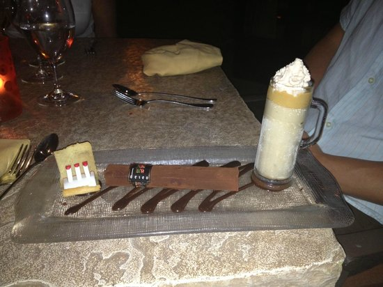 deseo at Westin Kierland Resort and Spa: Chocolate Cigar Dessert