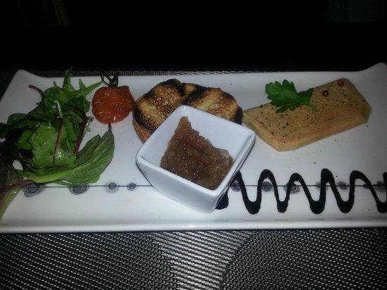 Restaurant le 28 : Entrée : Foie gras et son chutney