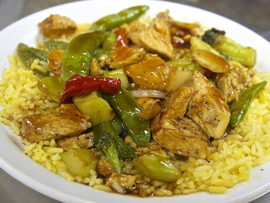 Flight Deck Restaurant & Bakery: The Chicken Stir-Fry. Excellent!!!