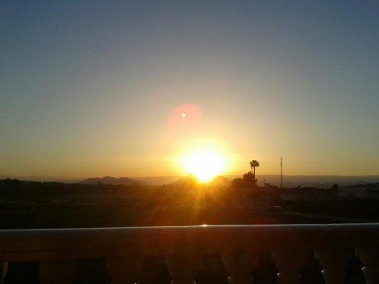 Formentera del Segura, España: Sunset from the balcony