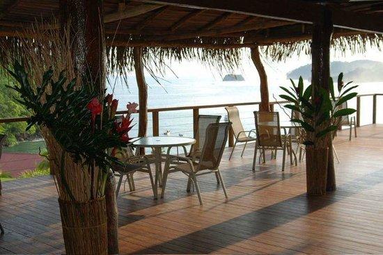 Hotel Guanamar: Vista desde el restaurante al oceano