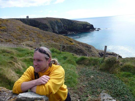 Ardmore Adventures: Ronan on the cliff walk