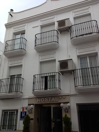 outside of hostal Abril. room 108 directly above doorway