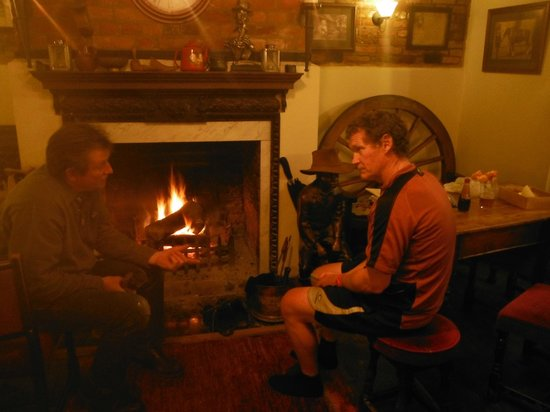 The Cross Keys: Warming up by the Log Fire