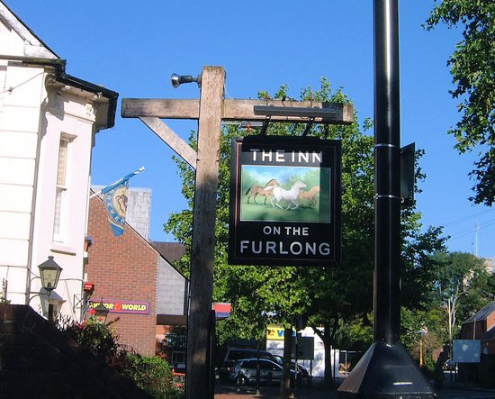 The Inn on the Furlong: Look for the sign