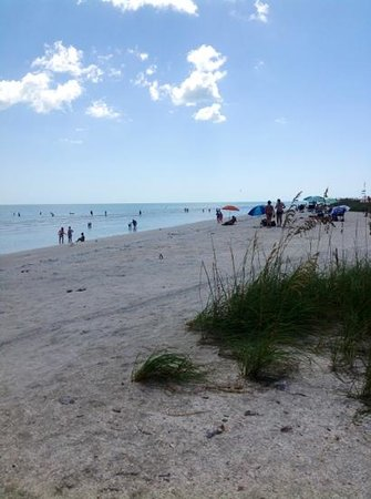 Tarpon Beach Condos: tide just going out