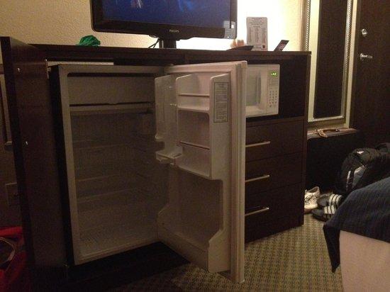 "Holiday Inn Express Pendleton : ""Large""  mini-fridge and microwave"