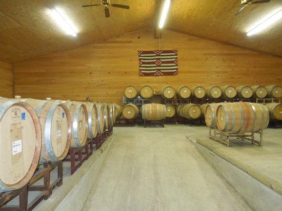 Sister Creek Vineyards: The wine barrels
