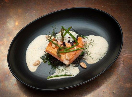 DeBretts Kitchen: salmon with sea vegetables