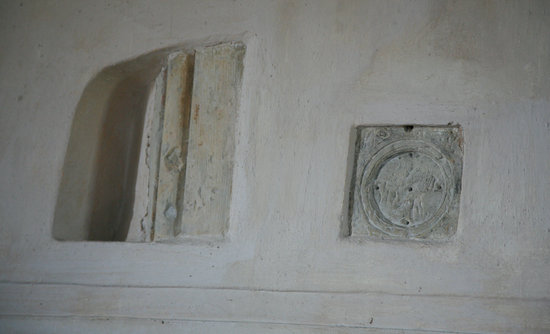 King's Somborne, UK: A rare example of a consecration cross.