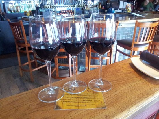 Cafe Vino: Great flights of wines and knowledgeable (patient) staff to help you decide!