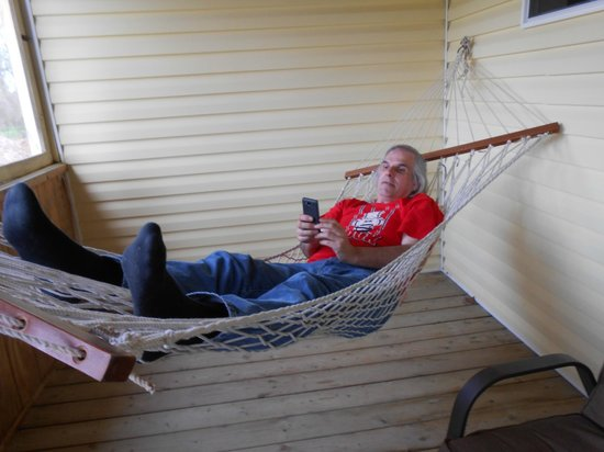 The Wandering Dog Inn: Hammock on our covered porch