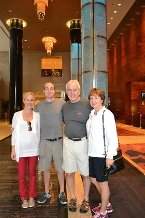 Grand Millennium Beijing: My family in the lobby