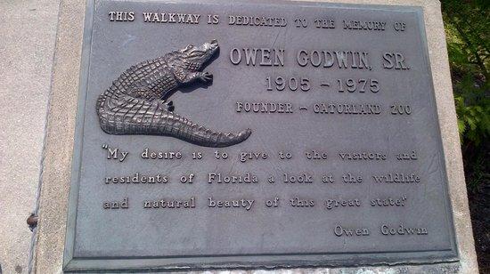 Gatorland: Dedication plaque