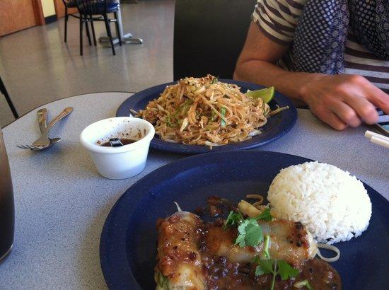 Thai Mini Cafe: Pad Thai and spring rolls