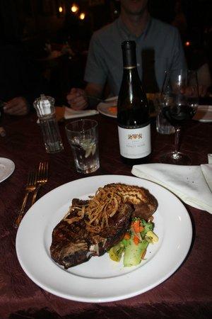 Will's Fargo: rib eye steak!