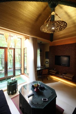 The Baray Villa: lounge room