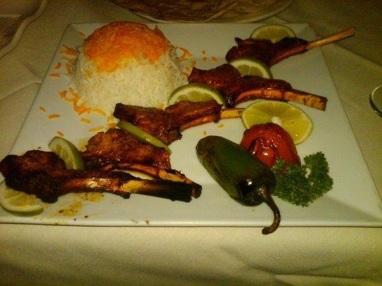 Marjan Fine Persian Grill: Shishlik (lamb chop)