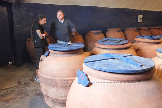 Guido's Tours - Wine Tours in Tuscany: Guido Ann & olive terra cotta olive oil jars