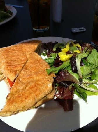 Teds Most Best: Ted's chicken pesto panini