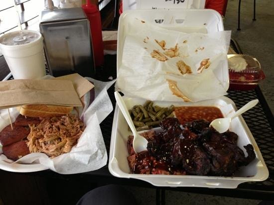 tips and brisket, so much goodness you can't go wrong
