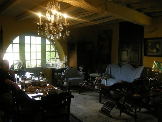 Chambre d'Hote Le Theron: salon
